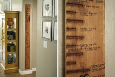 At Home With Becky Higgens - Family Measuring Stick - get kids heights from pediatrician if you don't have the actual measurements.