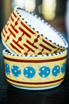 Fantasie hand-painted ramekins . http://www.dishesonly.com/products/fantasie-decorative-side-bowls