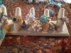 Vintage earring rings