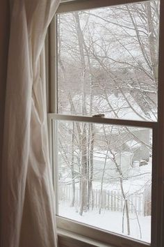 So lovely to look out the window to snow falling.