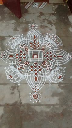 kolam Rangoli Designs Flower, Rangoli Kolam Designs, Rangoli Designs Images, Rangoli Ideas, Rangoli Designs With Dots, Kolam Rangoli, Flower Rangoli, Beautiful Rangoli Designs, Peacock Rangoli