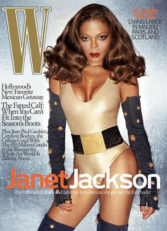 Janet Jackson - Janet Jackson on the cover of <em>W</em> Magazine's October 2006 issue -Wmag