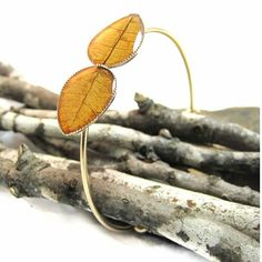 Such a #magical piece!  #Nature brings the best out of everything!  #Leaf #bangle bracelet