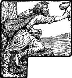 In The Lay of Harbard Thor exchanges heated words with Harbard the ferryman who taunts and teases the god from a safe distance across the waters. Thor Vs Odin, Celebrity Feuds, Celtic Mythology, Before Sunrise, Human Soul, Marvel, History, Illustration, Image
