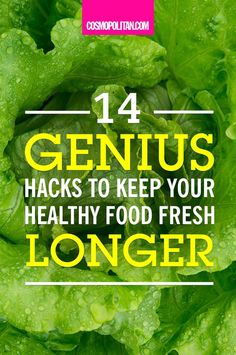 HOW TO KEEP FOOD FRESH LONGER: Use these 14 hacks to make your fruits and veggies last way longer! These simple hacks will teach you how to preserve lettuce, potatoes, strawberries, apples, tomatoes, celery, herbs, and more. Find all the healthy eating tricks you need here!