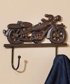 Vintage Motorcycle Cast Iron Wall Hook #zulily #zulilyfinds