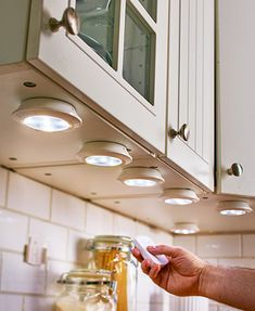 Find Out More On New Kitchen Renovation Ideas DIY kitchen Wireless Lighting with Remote Classic Kitchen, New Kitchen, Rustic Kitchen, 10x10 Kitchen, Minimal Kitchen, Eclectic Kitchen, Vintage Kitchen, Easy Home Decor, Cheap Home Decor