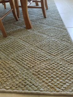 The subtle trellis design of this area rug is jacquard woven in a high/low weave of sisal for great natural texture and neutral oatmeal color. Natural Fiber Rugs, Natural Texture, Natural Carpet, Basement Furniture, Trellis Design, Diy House Projects, Jute Rug, Sisal, Modern Rugs