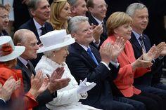 Eindrücke von der Queen´s Lecture am 24. Juni 2015 mit Königin Elizabeth II., dem Herzog von Edinburgh, dem Bundespräsidenten, Frau Schadt, Bundeskanzlerin Angela Merkel, Michael Müller, Regierender Bürgermeister von Berlin, sowie dem Präsidenten der TU B