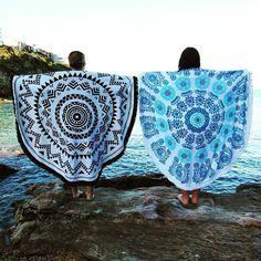 Round Beach Towel Bohemian Beach Blanket by SerendipityHousenCo