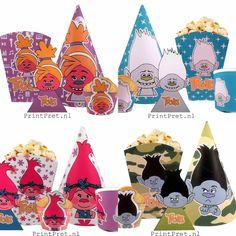 30 delige Printbare Trolls kinderverjaardag set met aftelkalender, uitnodigingen, traktaties, slingers, cupcakesikkels etc. www.printpret.nl Anime, Art, Bebe, Superheroes, Anime Shows, Kunst, Art Education, Artworks
