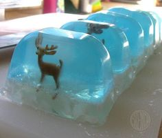 DIY- how to make Snow Globe Soap~ great gift idea~                                                                                                                                                                                 More