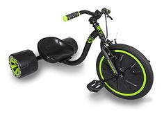 Madd Gear Mini Drift Trike, Black/Green Madd Gear