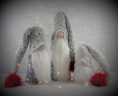 Cone Christmas Trees, Christmas Gnome, Christmas And New Year, Christmas Decorations, Christmas Ideas, Country Christmas, Christmas Ornament, Scandinavian Countries, Diy Wood Signs