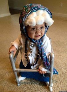 Grandma baby halloween costume  http://funphotololz.com/funny/grandma-baby-halloween-costume/