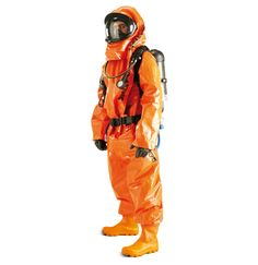 Hazmat suit. The only time that wearing orange head to toe is acceptable.