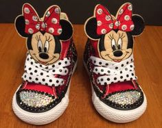 Minnie Mouse Converse / Jeweled Converse / Little Girl Allstars