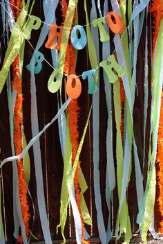 photo booth idea for twins scooby doo birthday party