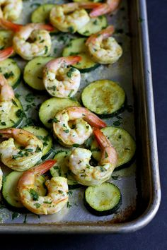 This healthy roasted curry shrimp and zucchini sheet pan meal is not only delicious, but it also comes together in less than 30 minutes.