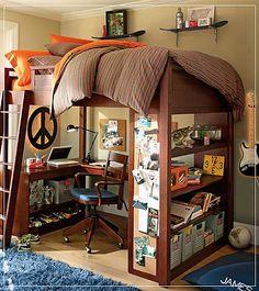 125 best dorm room ideas for guys images bunk bed with desk rh pinterest com