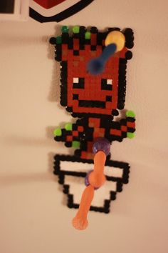 baby groot with perler beads