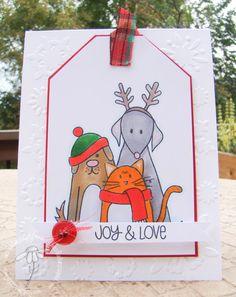 Furry Christmas; simon says stamp