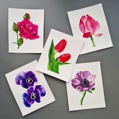 Purple and pink flower watercolor illustration by Studio Sonate Flower Watercolor, Watercolor Illustration, Pink Flowers, Studio, Purple, Prints, Instagram, Design, Viola