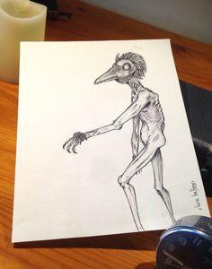 Hombre pájaro. de claraballego en Etsy https://www.etsy.com/es/listing/289496021/hombre-pajaro
