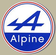 Jean Redele founded the marque in Dieppe in Alpine was a French manufacturer of racing and sports cars that used rear mounted Renault engines. Alpine Logo, Alpine Car, Car Brands Logos, Car Logos, Daihatsu, Ford Motor Company, Typography Logo, Logo Branding, Megane Rs