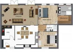New cottage project: the layout!  By Hillbro Interiors http://designerblog.hillbrointeriors.co.uk/?p=62