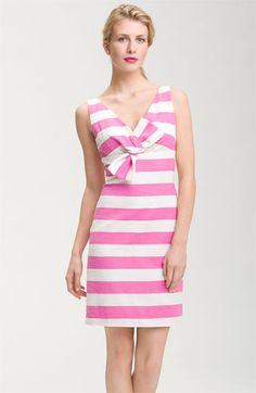 kate spade new york 'silverscreen' striped bow front dress available at Nordstrom