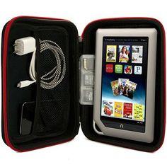 Barnes and Noble NOOK Tablet Hard Cube NEWEST Version, Color, BNTV250Vangoddy Harlin Reinforced Accessories Case with handle and Unique Device Friendly Velcro Usability - RED by Barnes & Noble. $14.75. **Unique Tablet All in 1 Carrying Case ** This case is easily our most durable and well liked accessory for the smaller tablets. Main compartment is lined with Velcro felt, that when combined with the INCLUDED Velcro strips keep your device in place, safe, and secure! Additionally...