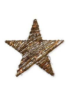 Sheas Wildflower Company  20-in. Natural Twig Lighted Star