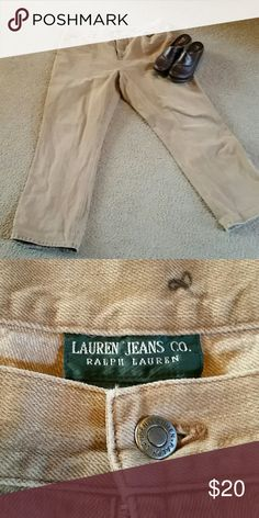 Ralph Lauren tan jeans Re-poshing. Too long for me (I wear a petite) Ralph Lauren  Jeans Straight Leg