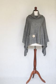 Knit poncho, gray poncho, gray scarf, gray cape, women poncho, gray sweater,knit cape,knit scarf,trending items,knitted machine,knit sweater by KnitwearFactory on Etsy https://www.etsy.com/listing/198499217/knit-poncho-gray-poncho-gray-scarf-gray