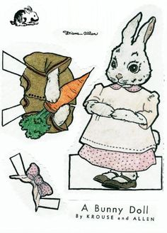 Bunny paper doll