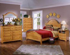 Solid Pine Bedroom Furniture Set - 3 Door Wardrobe, Drawers ...