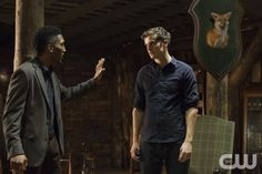 """The Originals -- """"Brotherhood of the Damned"""" -- Image Number: OR212a_0392.jpg -- Pictured (L-R): Yusuf Gatewood as Vincent and Daniel Sharman as Kaleb -- Photo: Bob Mahoney/The CW -- ©2015 The CW Network, LLC. All rights reserved.pn"""