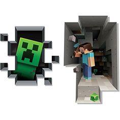Minecraft Wall Cling Decal Set (Creeper, Steve) JINX