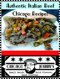 Make authentic Chicago style Italian beef with this Chicago Johnny recipe! Top it off with hot peppe Chicago Beef Sandwich, Italian Beef Sandwiches Chicago, Hot Beef Sandwiches, Roast Beef Sandwich, Italian Roast Beef, Italian Beef Recipes, Crockpot Italian Beef, Crockpot Meals, Authentic Chicago Italian Beef Recipe