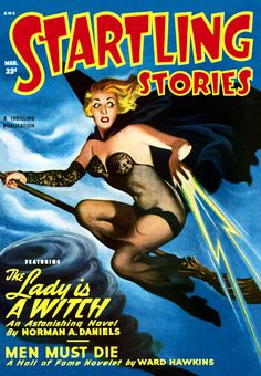 Sci Fi Startling Stories Featuring The Lady Is A Witch