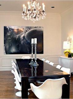 Rachel Zoe's home decor- love the bold focal piece of art