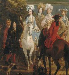 Marie-Adelaide de Savoie, duchesse de Bourgogne (1685-1712), detail of the painting by Martin-Pierre Denis (1663-1742)