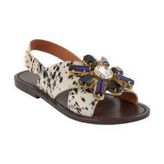Marni Jeweled Slingback Flat Sandals at Barneys.com