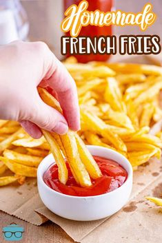 A fool-proof recipe for making delicious homemade french fries. The perfect fry is crispy on the outside and fluffy on the inside! Best Comfort Food, Comfort Foods, Side Dish Recipes, Side Dishes, Perfect Fry, Humble Potato, Picnic Potluck, Dried Potatoes, Homemade French Fries
