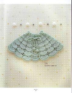 Crochet Cape Pattern Diagram so cute