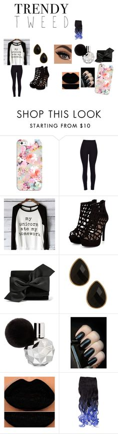 """""""Black"""" by ivieoww on Polyvore featuring Casetify, Victoria Beckham, Natasha Accessories, women's clothing, women, female, woman, misses, juniors and trendytweed"""