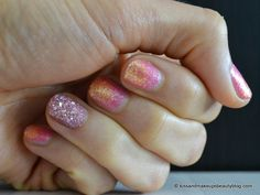 Nail art (Two-toned glitter nail art with the new Zoya Bubbly Summer 2014 Collection & Zoya Magical Pixie Dust Summer 2014 Collection) (6)