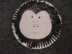 gorilla paper plate craft for preschool or kindergarten