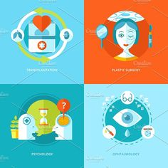 Flat Medical Icons Vector Set by painterr on @creativemarket